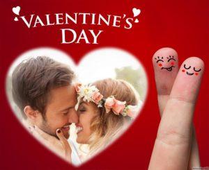 Caritas felices en tu fotomontaje de san valentín